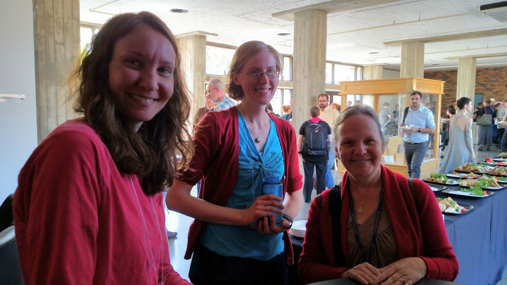 Jennifer with Rachel Roberts and Melinda Creech at the class showcase on Friday afternoon.